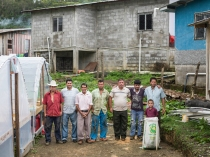 the Morenos at their El Filo farm in El Cedral, Santa Barbara, Honduras